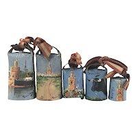 Vintage Set of Seville Souvenir Bells