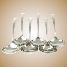 Set of Six Silver Plated Ladles
