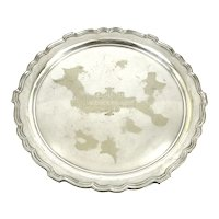 Antique Silver Plated Tray, Canadian Tour 1908