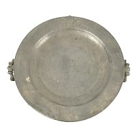 Antique Pewter Warming Dish, William Hogg