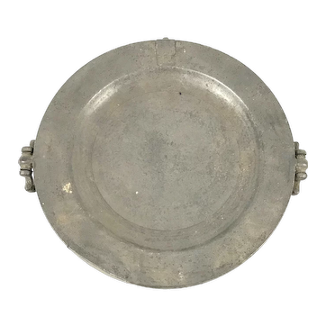 Antique Pewter Warming Dish, William Hogg