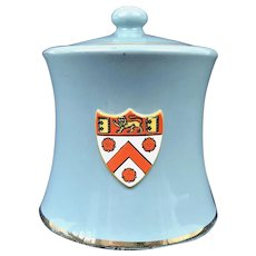 Carlton Ware Crested Tobacco Jar Trinity College