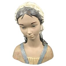 Rare Large Lladro Little Girl 2024 Bust
