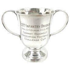 Georgian Old Sheffield Plate Military Trophy Cup