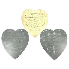 Mid Victorian Agricultural Horse Award Plaques