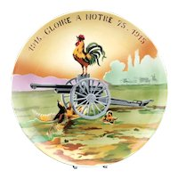 First World War French Gloire a Notre 75mm Field Gun Commemorative Charger
