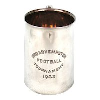 Silver Plate Football Tournament Tankard