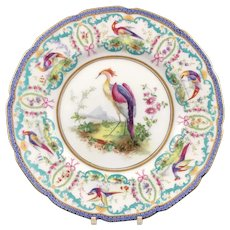 Antique Royal Doulton Birds of Paradise Plate