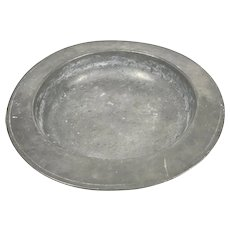 Large Antique Victorian Pewter Bowl