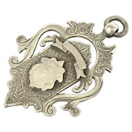 Antique Sterling Silver Watch Chain Fob