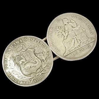 Antique Coin Silver Buckle
