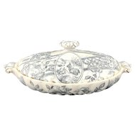 Antique Blue and White Vegetable Tureen