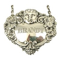 Sterling Silver Brandy Decanter Label