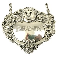 Sterling Silver Brandy Decanter Label