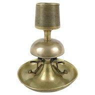 Antique Counter Top Bell Match Striker, Brass and Bronze