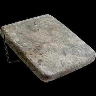 Carriage Stone, Vintage Cutting Board, Stone Board, Soap Stone, Slate Slab, Warming Stone, Winter Decor, Fireplace, Kitchen
