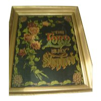 """Vintage Gesso Frame ~ Lithograph  Print: """"The Lord Is My Shepherd"""""""