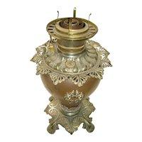 GWTW Base with Ornate Brass Font Fostoria