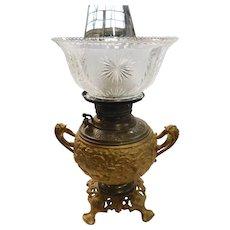 B&H GWTW Sugar Bowl Lamp with Gas Shade Electrified