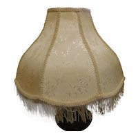 Vintage Victorian Style 8-Sided Off-White Brocade Shade