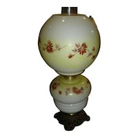 Antique GWTW Lamp No. 2 Electrified burner ~ Hand Painted with Original Shade.