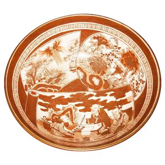 Antique Kutani  Signed Bowl in Good Shape 1890's