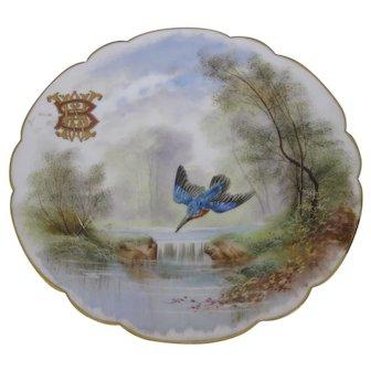 "Beautiful Hand Painted 9 1/2"" Mansard Rue Paradis Dinner Cabinet Plate"