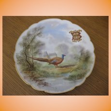 "Antique Hand Painted Mansard Rue Paradis Porcelian China Cabinet Plate 9 1/2"""