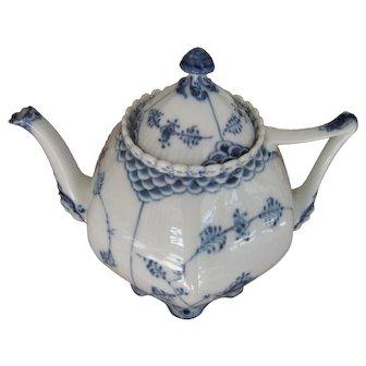 Royal Copenhagen Blue Fluted Full Lace Gargoyle Teapot #1119