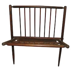 Mid century Modern Walnut Magazine Rack Nasco