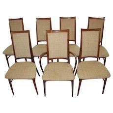 Mid Century Niels Koefoed Hornslet Rosewood Dining Chairs- Set of 7