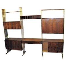 Poul Norreklit Denmark Rosewood Modular Room Divider & Storage Cabinet