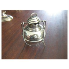 Vintage Sterling Silver 3 Legged Mustard Condiment Pot