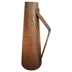 """Vintage Hand 9"""" Hammered Copper Pitcher"""