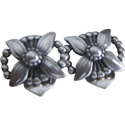 Georg Jensen Flower and Bead Ear Rings