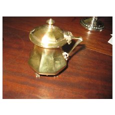 Goldsmith & Silversmiths Company Sterling Condiment Dish with Gold Wash