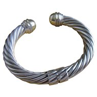 David Yurman Classic Coil Bracelet or Cuff with 14k Gold in 10mm