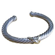 David Yurman X  Bracelet with 14k 7mm