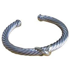 David Yurman X  Bracelet with 14k 7mm