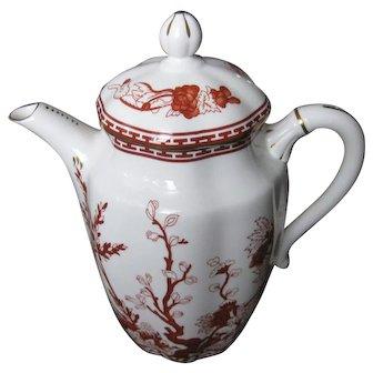 COALPORT bone china INDIAN TREE CORAL scalloped Coffee Pot