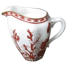 COALPORT one china INDIAN TREE CORAL scalloped cream pitcher
