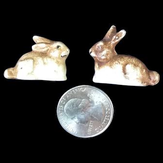 Fantastic 19th century porcelain dollhouse rabbits, bunnies
