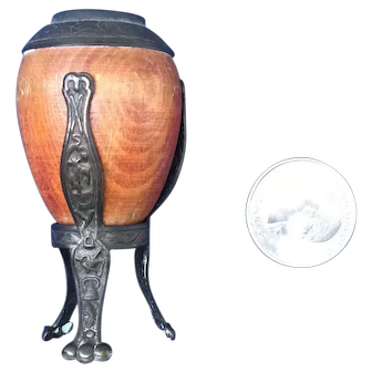 Fabulous French Fashion decorative urn on embossed stand Ca 1890