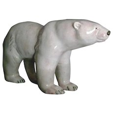 Large Art Deco Ceramic Polar Bear - Werkstatte Austria