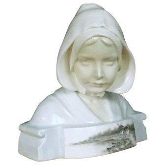 F. Goldscheider Porcelain Bust Dutch Girl