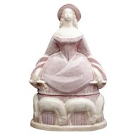 Art Deco Shepherdess Powder Jar - Willy Vuilleumier