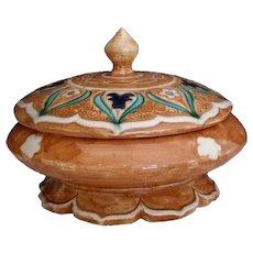 J.J. LACHENAL Art Deco Lidded Jar Orientalist Decoration