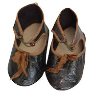 """Antique Doll Shoes Size 10"""