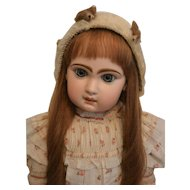 """Antique Mohair Doll Bonnet"""