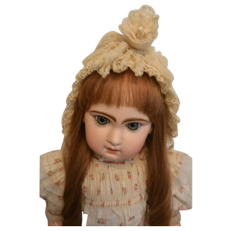"""Factory Made Antique Doll Combination Yarn Bonnet"""